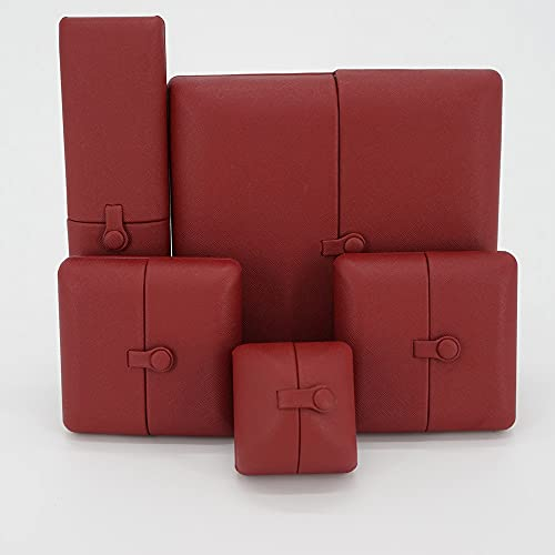 Pendientes de forro polar doble caja de joyería caja de anillo pendientes caja de almacenamiento para collar de niños caja de joyería de pulsera marrón