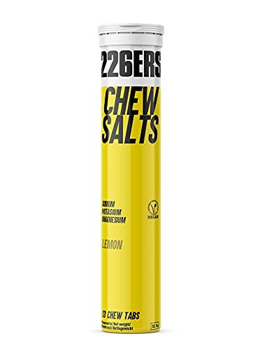 226ERS Chew Salts | Sales Minerales Masticables con Sodio, Potasio, Magnesio y Calcio, Nutrición Ciclismo y Running - 13 Electrolitos Comprimidos Sabor a Limón