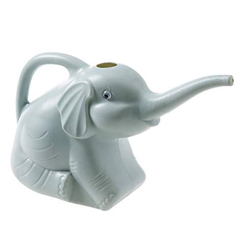 GJCrafts Regadera de elefante, maceta de riego de plástico de dibujos animados, botella de riego de boca larga para niños para jardinería en el hogar y al aire libre, accesorio de riego multifunción