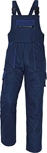 Stenso MAX - Herren Praktisch Arbeitslatzhose Baumwolle Marinenblau 46