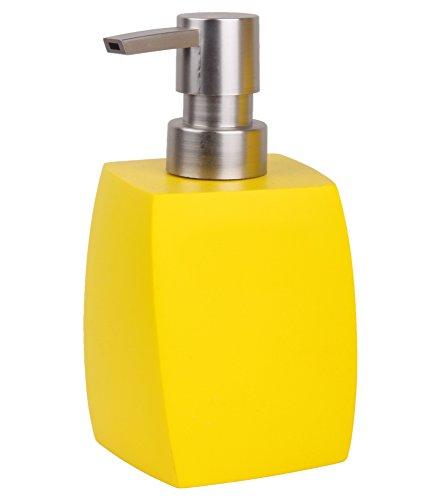 Seifenspender Wave Gelb   ein Blickfang für jedes Badezimmer   modernes Design   stabile Qualität