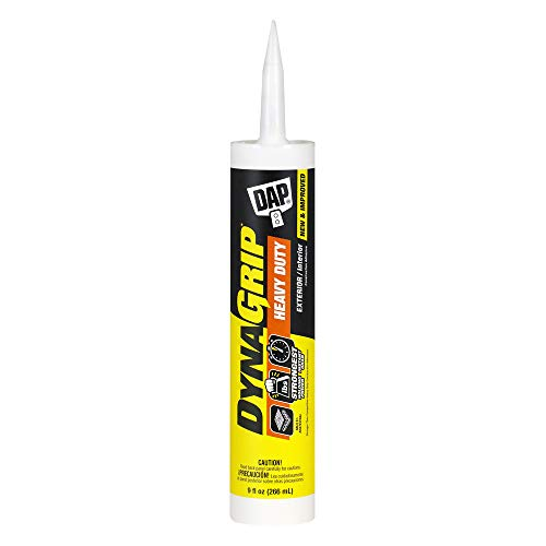 DAP 27509 9 Oz DynaGrip Heavy Duty Exterior & Interior Construction Adhesive (Color Off-White)