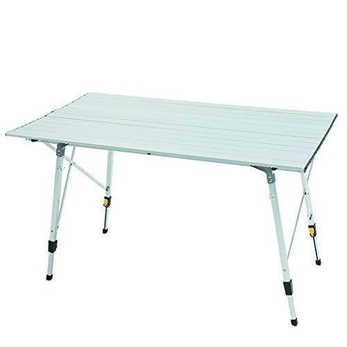 JKL-Lapdesks Campingtisch, zusammenklappbar, Ultraleichter Aluminium-Tisch, tragbarer Tisch für Grill, Picknick, Camping, Kochen, Arbeit, Hausarbeit, 90 x 53 x 63 cm