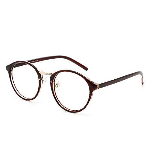 Cyxus Blaulichtfilter Brille Ohne Stärke, Bluelight Filter, Anti UV400 Blueblocker Computerbrille PC Brillen(Dunkelbraun)