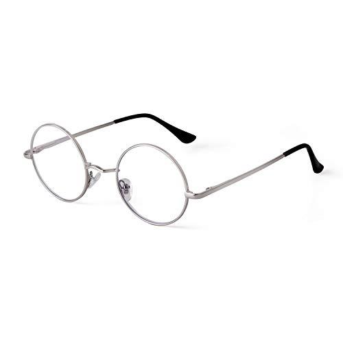 GIFIORE Runde Blaulichtfilter Brille Damen, Klassische Runde Computerbrillen,ohne Sehstärke, Blockieren Blaue Licht von PC, TV und Handy