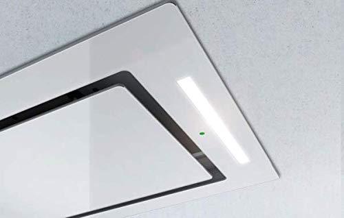 Airforce F171 - Campana de cocina de techo (100 cm, cristal blanco)
