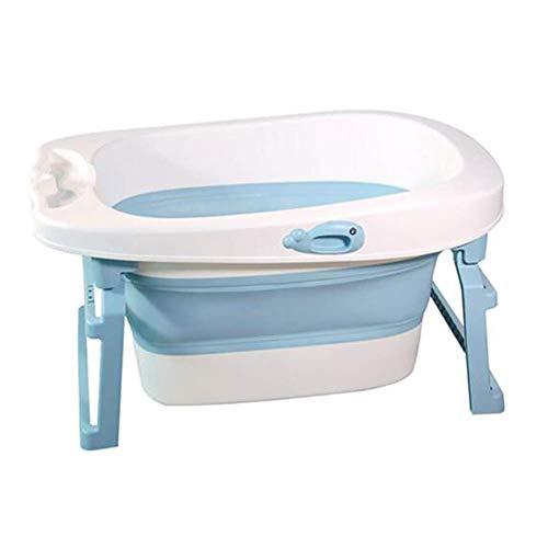 Guotail Bañera para bebé Plegable-Portátil Antideslizante/Se Puede sentar y mentir/Lavabo de Gran tamaño Recién Nacido Niño/Bañera,Blue