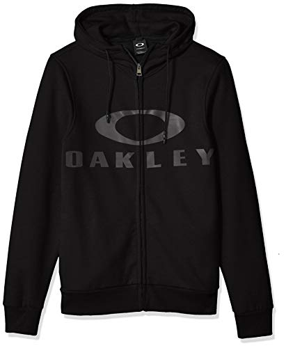 Oakley Men's Bark Fz Hoodie, Blackout, XL