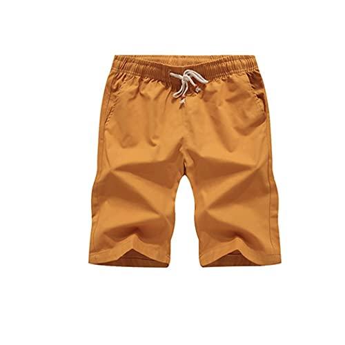 Huposdxjmdk Pantalon Corto Hombre Deporte, 1pc Shorts Casuales Hombres Verano sólido Cintura elástica Pantalones Cortos Casuales para Hombres Talla Grande Pantalones Cortos de Hombre