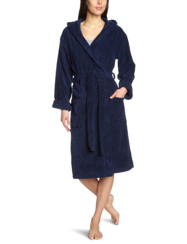 Schiesser Damen Bademantel 128545-815, Gr. 42 / XL, Blau (815-navy)