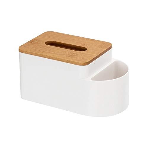 Caja de tejido Multipropósito caja de pañuelos Inicio Sala de estar Escritorio remoto Caja de control de almacenamiento de cuero caja de papel caja de caja de la servilleta Para encimeras de vanidad d
