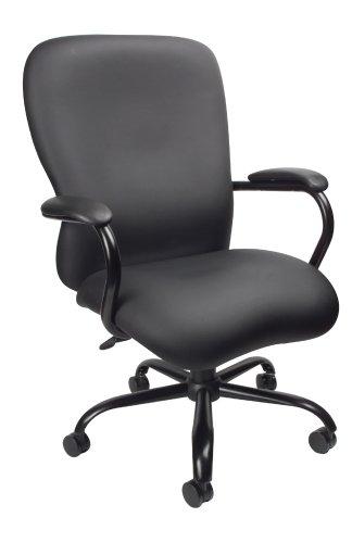 Boss Office Products CaressoftPlus Stuhl, strapazierfähig, 150 kg Tragkraft, Schwarz