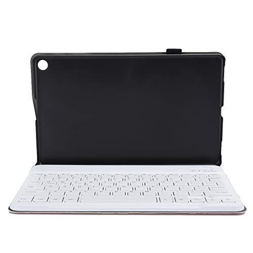 gostcai Teclado Desmontable para Tableta Bluetooth 3.0/4.0/1.1 con Ajuste de Cubierta Protectora, Fuente de alimentación de Interfaz USB, para Tableta Tab A 10.1 2019.(Oro Rosa)