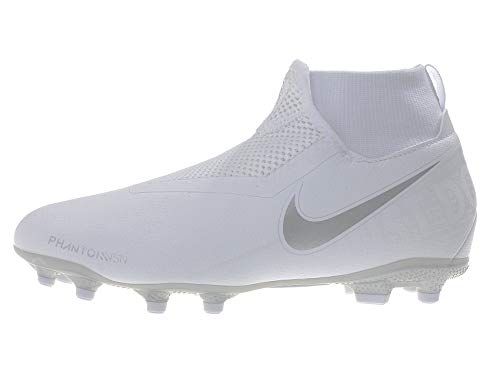 Nike Performance Phantom Vision Academy DF MG - Botas de fútbol para niño, blanco, plateado, 3Y US - 35 EU - 2-5 UK