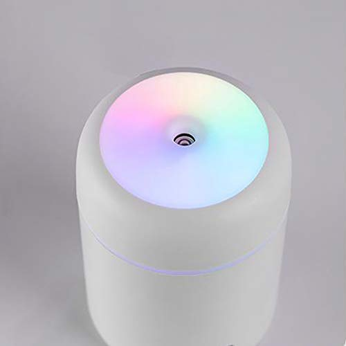 MCool humidificador de vapor de aire humidificador ultrasónico silencioso humidificador portátil mini-humidificador pequeño humidificador de vapor frío con luz de noche, USB Escritorio (blanco)