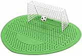 YUEKUN Fußball WC Reiniger für Herren, Urinalsieb Geruchsentferner Frisch Fußball-Tor-Stil, Urinal-Filtermatte, 5 Stück