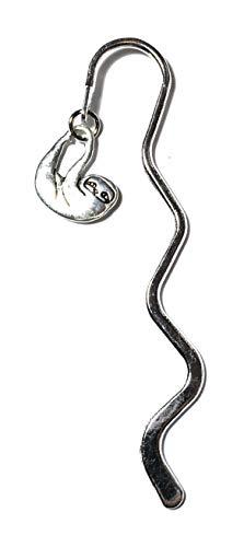 FizzyButton Regalo d'Argento di Tono Mini segnalibro con Piccolo Fascino accidia Tono Argento Antico, nel Sacchetto del Regalo