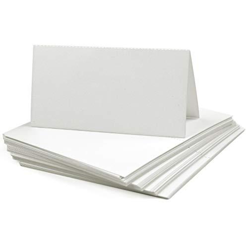 YOTINO 50 Pièces Cartes de Table Blanches, Cartes de Noms 10 x 10 cm pour Mariage et Anniversaire, Porte Nom Table Blanc