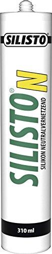SILISTO Silikon Sanitär Neutralvernetzend Transparent 310 ml