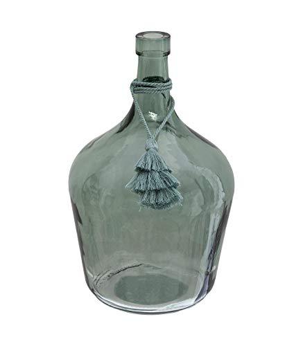 Atmosphera - Vase Dame Jeanne avec Pompon H 25 cm Poésie à l'anglaise