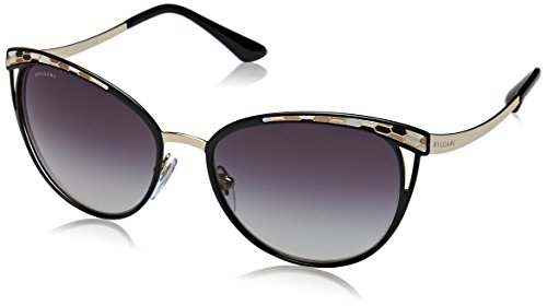 Bvlgari BV6083 20188G Black/Gold BV6083 Cats Eyes Sunglasses Lens Category 3