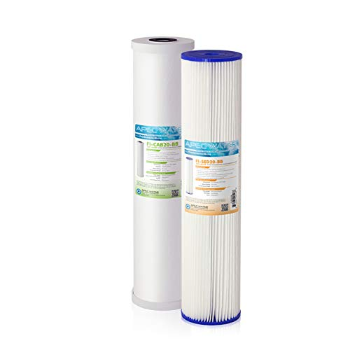 APEC Water Systems Filter-SET-CB2-20BB 20' Whole House Sediment and Carbon Replacement Filter Set