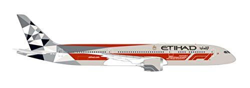 Herpa 533263 Etihad Airways Boeing 787-9 Dreamliner Abu Dhabi Grand Prix Wings/Flugzeug zum Sammeln, Mehrfarbig