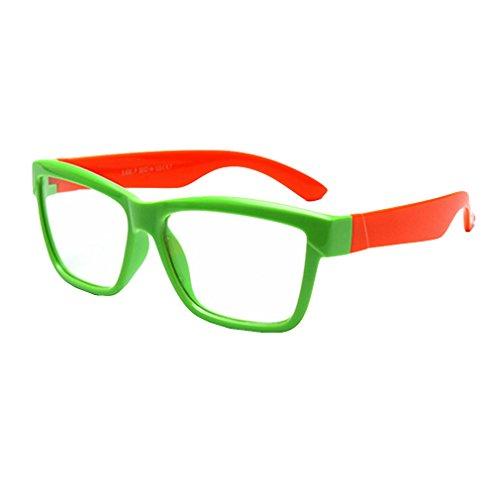 Junkai Junkai Mädchen Jungen Silikon Klare Linse Brillengestell + Auto Form Brillenetui - ka18071006