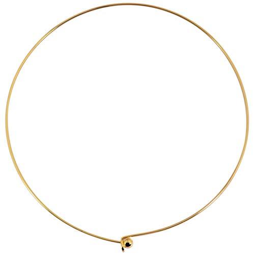 Akzent Edelstahl Damen Omega-Halsreif Gold Länge: 43 cm Stärke: 2 mm