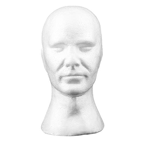 Ba30DEllylelly Creative Hommes mâle Lisse Mannequin tête modèle Perruque Chapeau Lunettes Casquettes Affichage Bulle Mannequin tête avec Oreilles
