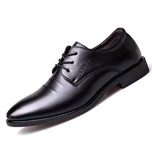 Zapatos de Negocios Vestido para Hombre Cuero de Oficina Vintage Punta Puntiaguda...