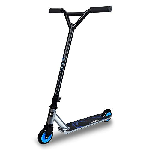 UHINOOS Stunt Scooter Pro Scooters for Beginners Best Trick Stunt Scooter with Stable Performance Freestyle Kick Scooter for Boys and Girls(Black and Silver)