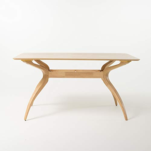 Christopher Knight Home Salli Wood Dining Table, Natural Oak Finish
