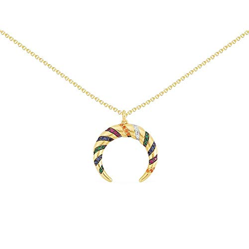 APM MONACO COLLECTION MANA II mehrfarbiger Tribal-Halskette verstellbar – gelbes Silber AC4943MY