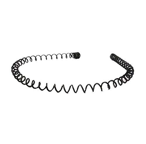 Unisexe noir printemps métal cheveux Hoop Sports bandeau accessoires Headware - C