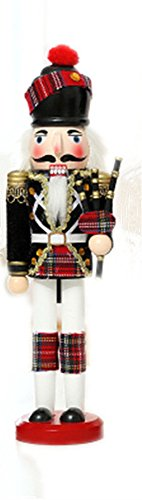 Scotland Style Nutcracker Soldier Bagpipes Christmas Ornament Gifts Holidays Presents 12 inches Tall