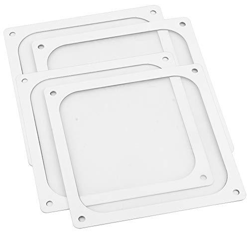 S SIENOC 4 x 120 * 120mm Weiß Lüfterabdeckung mit Ultra-feinem Staubfilter, Schwach magnetisch Montage (4 x Staubfilter, 120 * 120mm, Weiß)