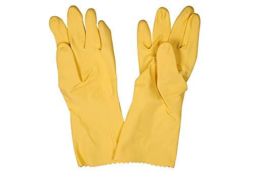 Vileda 1500460 Handschuh 'Der Griffige' Universal Grip, Größe: M, Gelb (6 Paar)