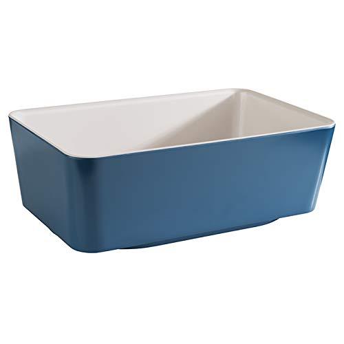 APS GN 1/4 Bol'Happy Buffet', Bol, bol de buffet, bol en mélamine, blanc/jaune, 26,5 x 16,2 cm, hauteur 9 cm, pour une capacité de 2,5 litres