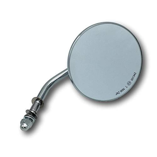 4 Zoll (ca. 10cm) Custom Spiegel rund Chrom mit E-Zulassung für Harley-Davidson® Motorrad (rechts oder Links geeignet)