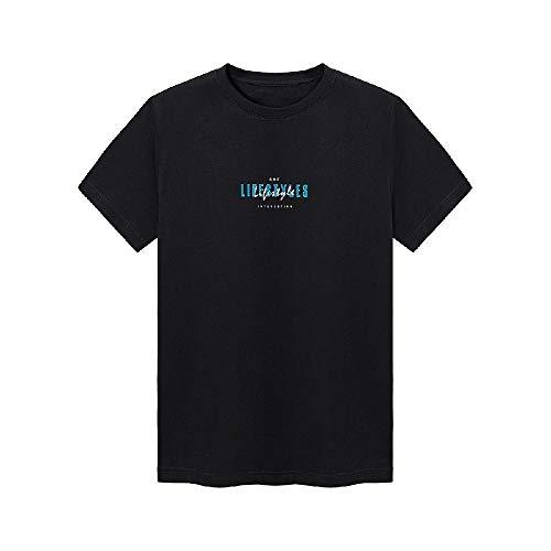 Frühjahr und Sommer Neue Männer Kurzarm-T-Shirt Baumwolle T-Shirt Männer Grundbuchstaben Druck Stricken