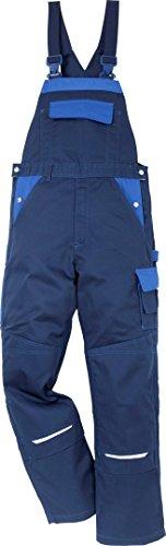 Fristads 100812 Kansas Workwear Latzhose Gr. 35W x 32L, Marineblau/Königsblau