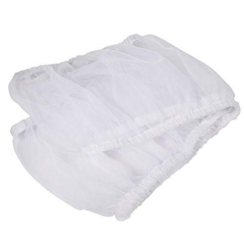 Cubierta de Jaula de pájaros, Malla de Nylon Universal Mascotas Aves Loro Jaula Cobertor de Semillas Cubierta Concha Suave Ventilada Jaula de pájaros Falda L Tamaño (Blanco)