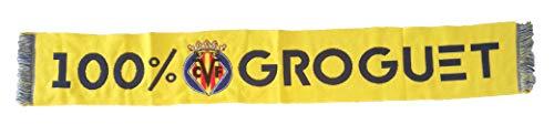 Villarreal CF Bufanda 100% Groguet, Amarillo, Estandar Unisex Adulto