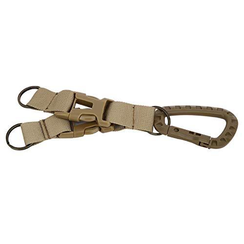 Qqmora Ligero Llavero Hebilla Durable Portátil Mini Kit de Llavero para Exteriores Correas Hebilla Gancho Cinturón para Acampar al Aire Libre, Mochileros, Senderismo
