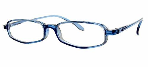 純日本製 やわらかシニアグラス(老眼鏡)SABAE【オーシャン・ブルー】鯖江製 度数+0.75~+3.5(ケース付)+3.5