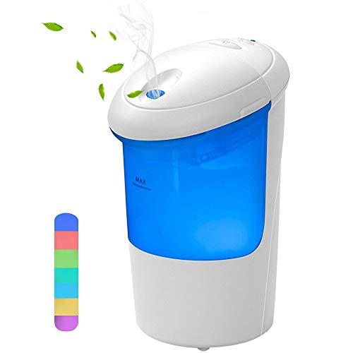 COOLEAD Humidificador Coche USB Ambientador Casa Aroma Difusor de Aceite Esencial 7 Color LED Humectador de Niebla Car Diffuser Essential Oil Ambientador Purificador de Aire para Hogar Oficina Coche