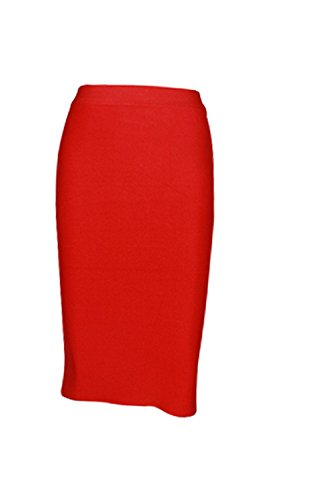 H+H HY Tight Fit Hüfte Hohe Taille Verband Rock, Red, M,red,m