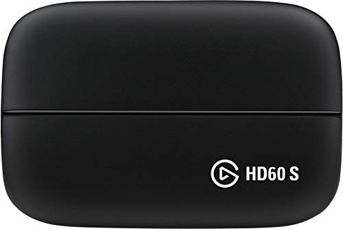 Elgato HD60 S Capture Card, 1080p 60 Capture, Zero-Lag Passthrough, Ultra-Low Latency, PS5, PS4, Xbox Series X/S, Xbox One, Nintendo Switch, USB 3.0