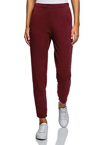 oodji Ultra Mujer Pantalones de Punto con Cintura Elästica